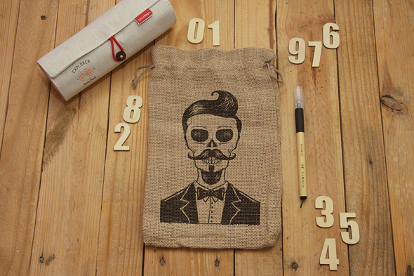 Free Burlap Jute Bag Packaging Mock-up-Preview