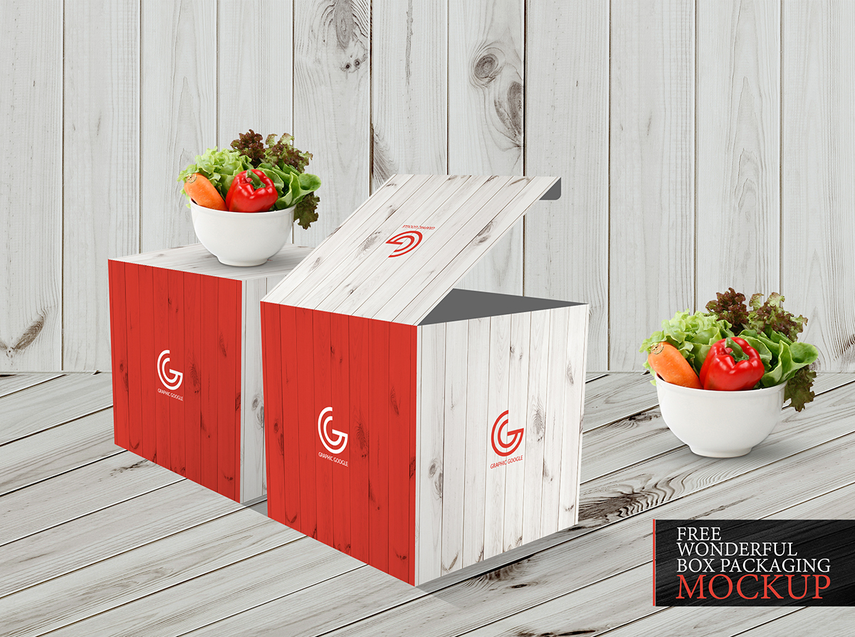 Free Wonderful Box Packaging Mockup