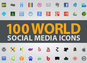 100 World Social Media Icons For Web and Graphic Designers