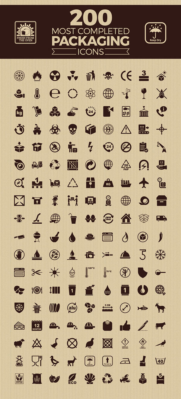 200-most-completed-packaging-icons-vector-set