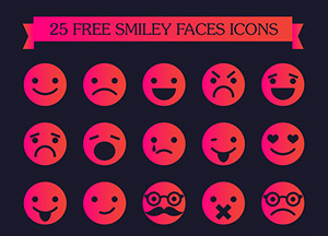 25 Free Smiley Faces Icons