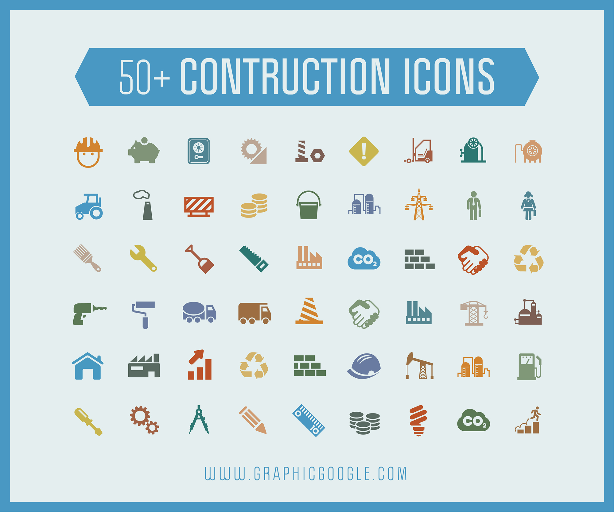 50+ Construction Icons-600