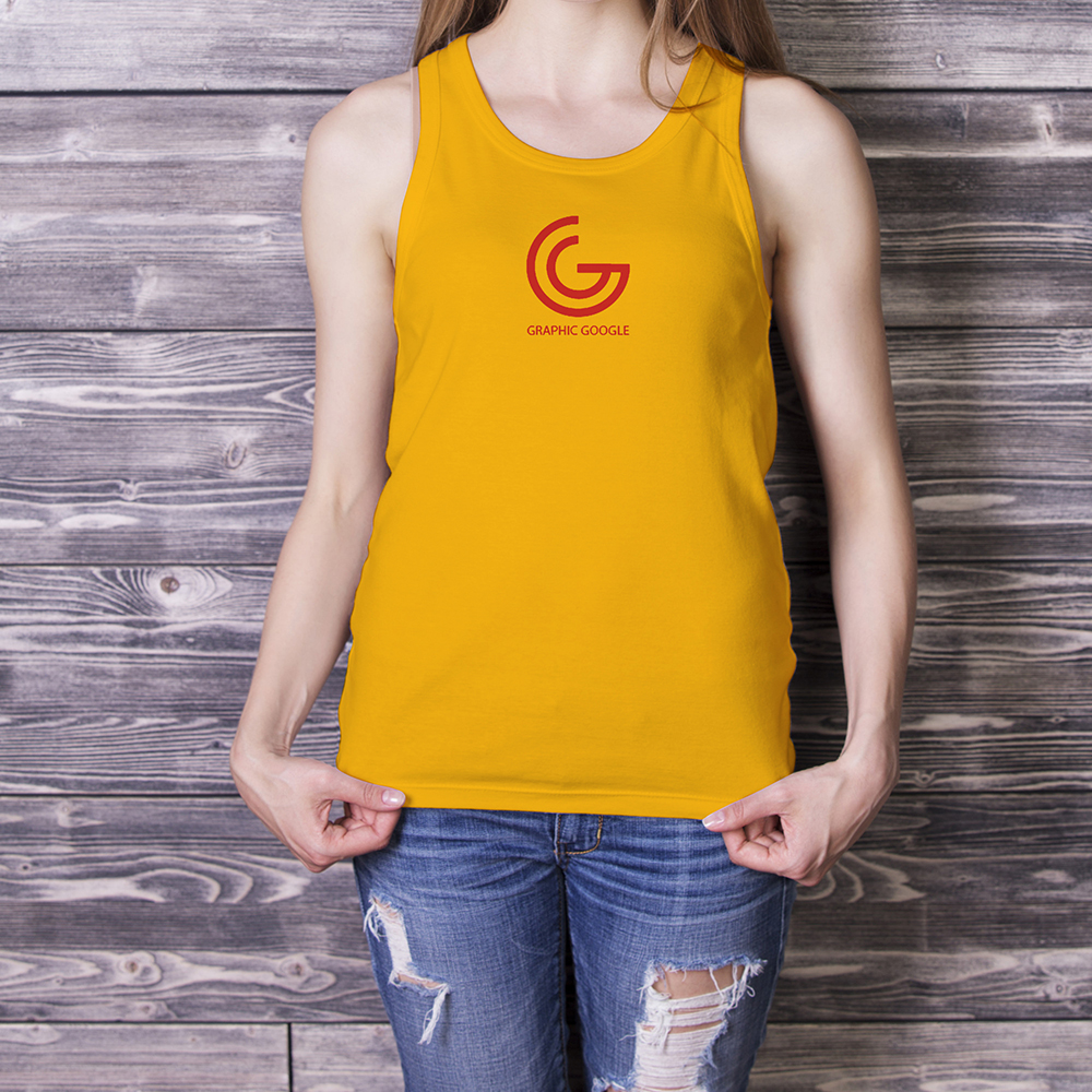 Beautiful Girl in Tank Top Mockup-2