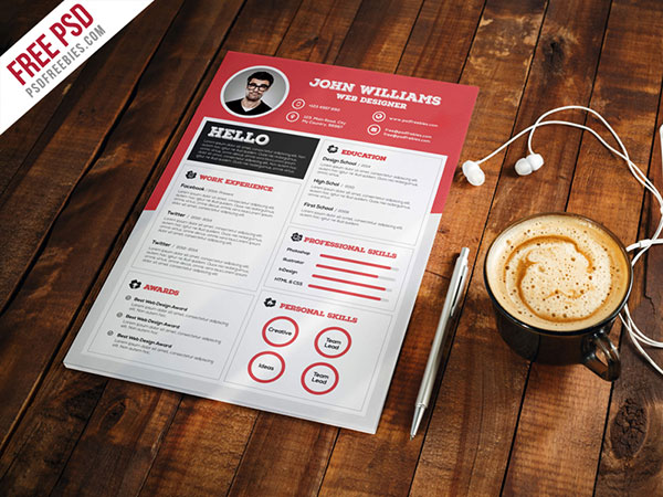 20 Best Resume Templates For Developers Ui Graphic Web Designers