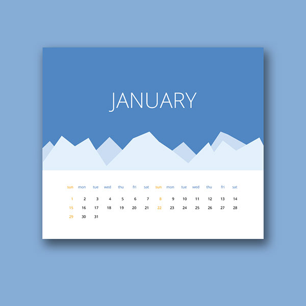 Wall Calendar Graphic Design : Wall desk calendar designs ideas for graphic