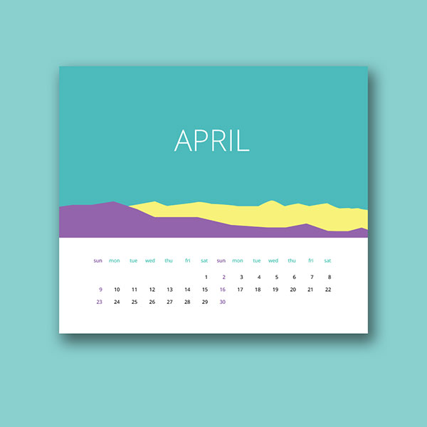 Calendar Design With Photos : Wall desk calendar designs ideas for graphic