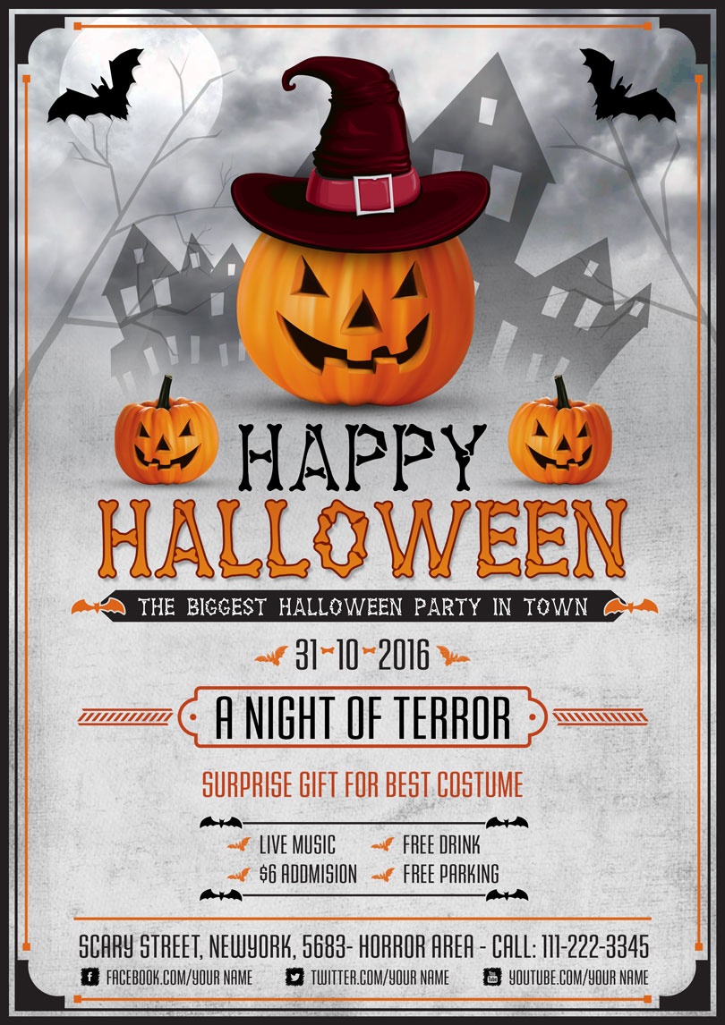 halloween scary night flyer template psd graphic google tasty graphic designs collection. Black Bedroom Furniture Sets. Home Design Ideas