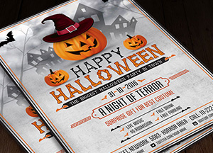 Halloween Scary Night Flyer Template PSD