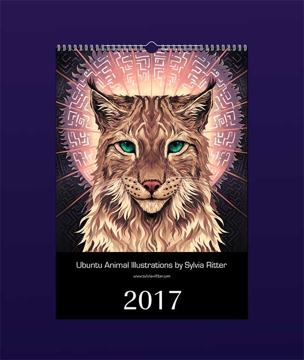 ubuntu-animal-illustrations-calendar-2017