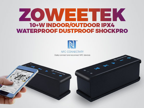zoweetek-10-w-indoor-outdoor-ipx4-waterproof-dustproof-shockproof-portable-wireless-bluetooth-speaker-maxbass-nfc-technology-pack-for-usb-devices