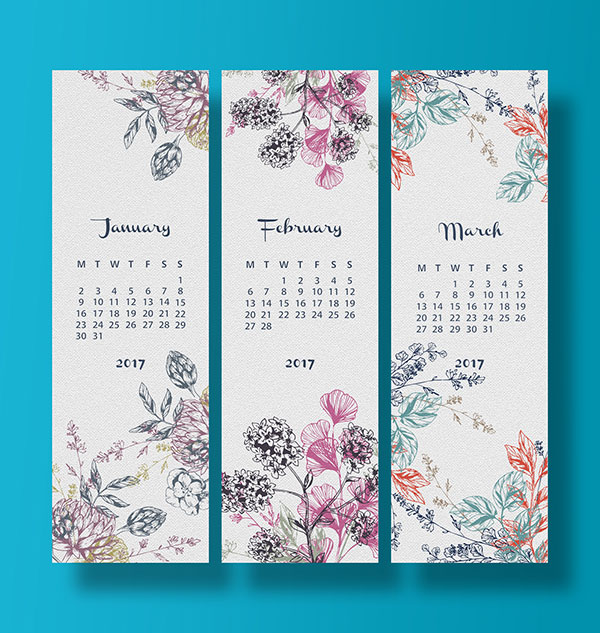 Typography Calendar Creative : Wall desk calendar designs ideas for graphic