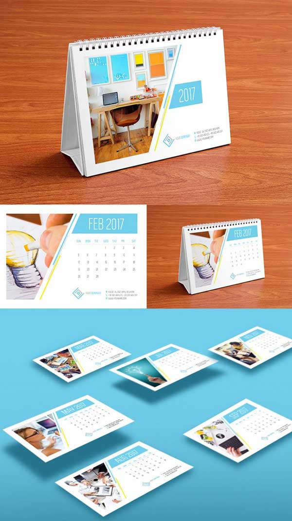 30 Wall & Desk Calendar Designs 2017 Ideas For Graphic Designers