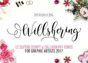 12 Superb Script & Calligraphy Fonts For Graphic Artists 2017