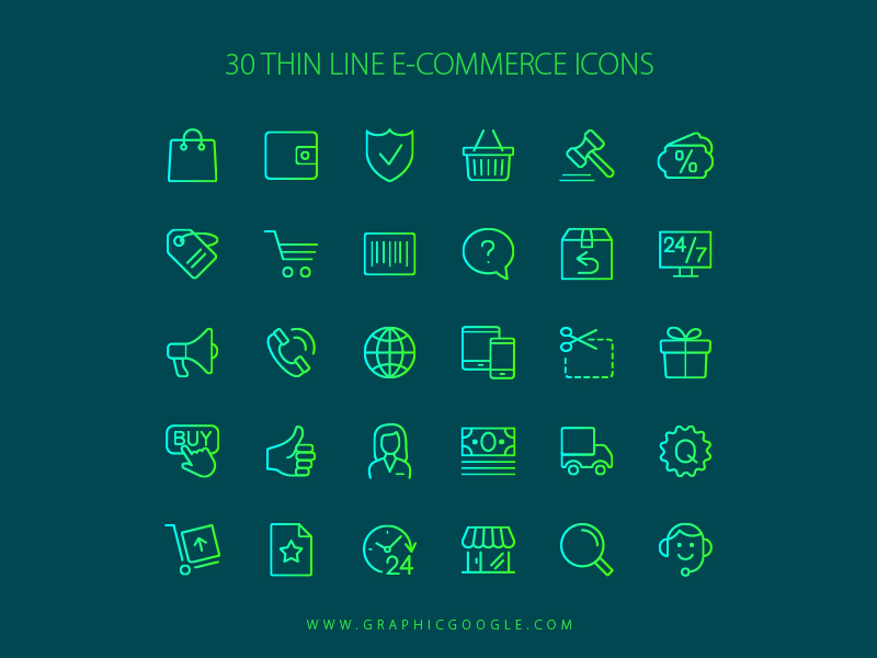 30-thin-line-e-commerce-icons
