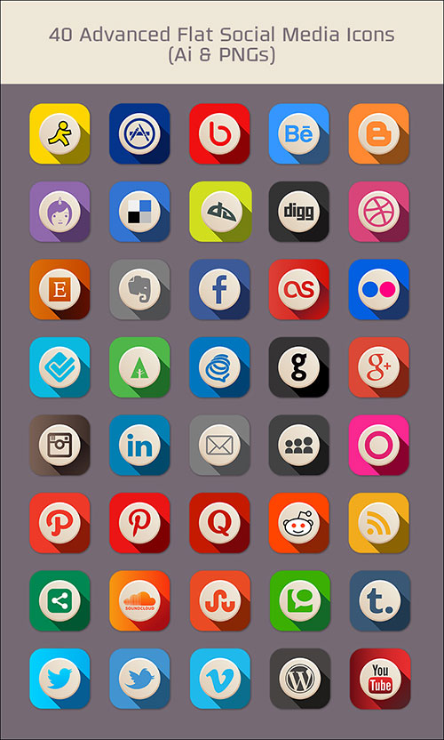 40-free-advanced-flat-social-media-icons-pngs-vector-file