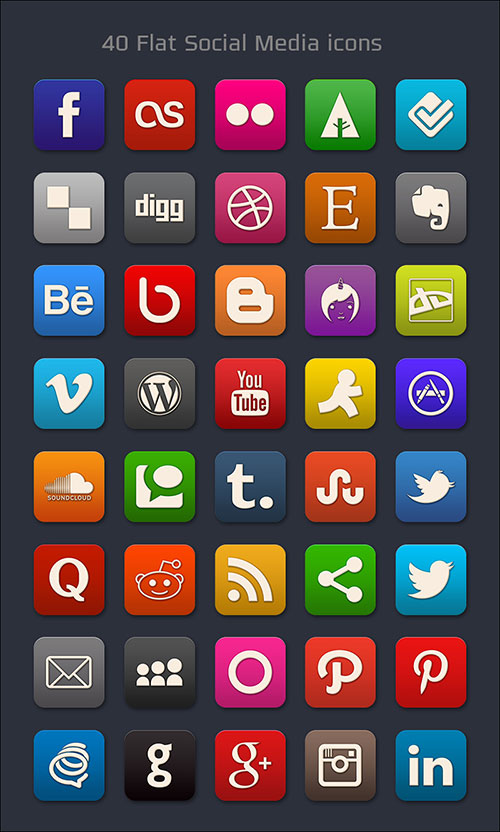 40-free-flat-social-media-icons-pngs-psd-file