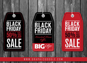 Free Black Friday Price Tag Stickers Vectors For Graphic Designers
