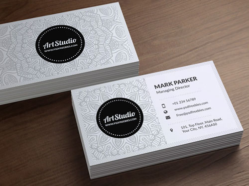 free-art-studio-creative-white-business-card-psd