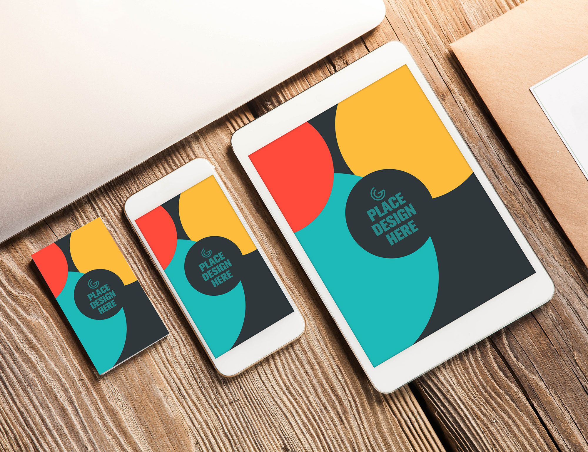 Business Card, Smart Phone and Tablet Mock-up