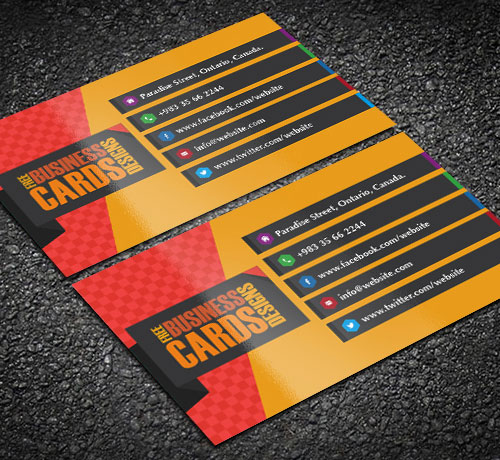 Magnificent Free Business Cards Design Templates - Free business cards templates
