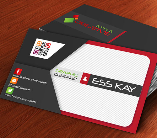 50 magnificent free business cards design templates free envelope style creative business card template design flashek Image collections
