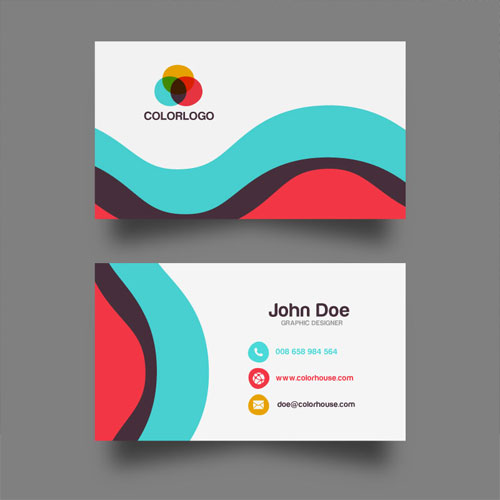 50 magnificent free business cards design templates free flat business card template design wajeb Images