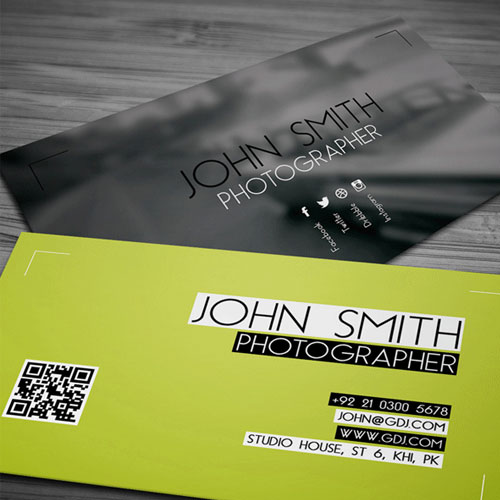 50 magnificent free business cards design templates free photographer business card psd template design reheart Image collections