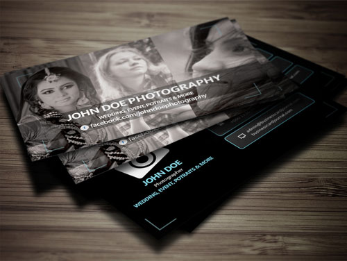 Magnificent Free Business Cards Design Templates - Photography business card templates