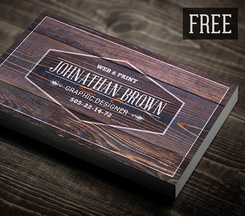 50 magnificent free business cards design templates free retro wooden business card template design reheart Choice Image