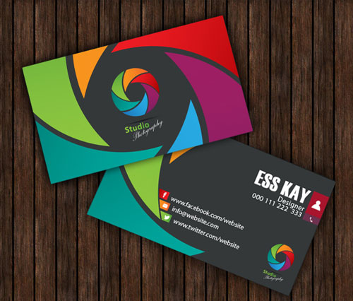 50 magnificent free business cards design templates free studio photography creative business card template accmission Gallery