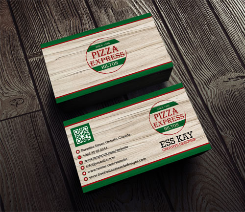 50 magnificent free business cards design templates free vintage pizza business card design template colourmoves