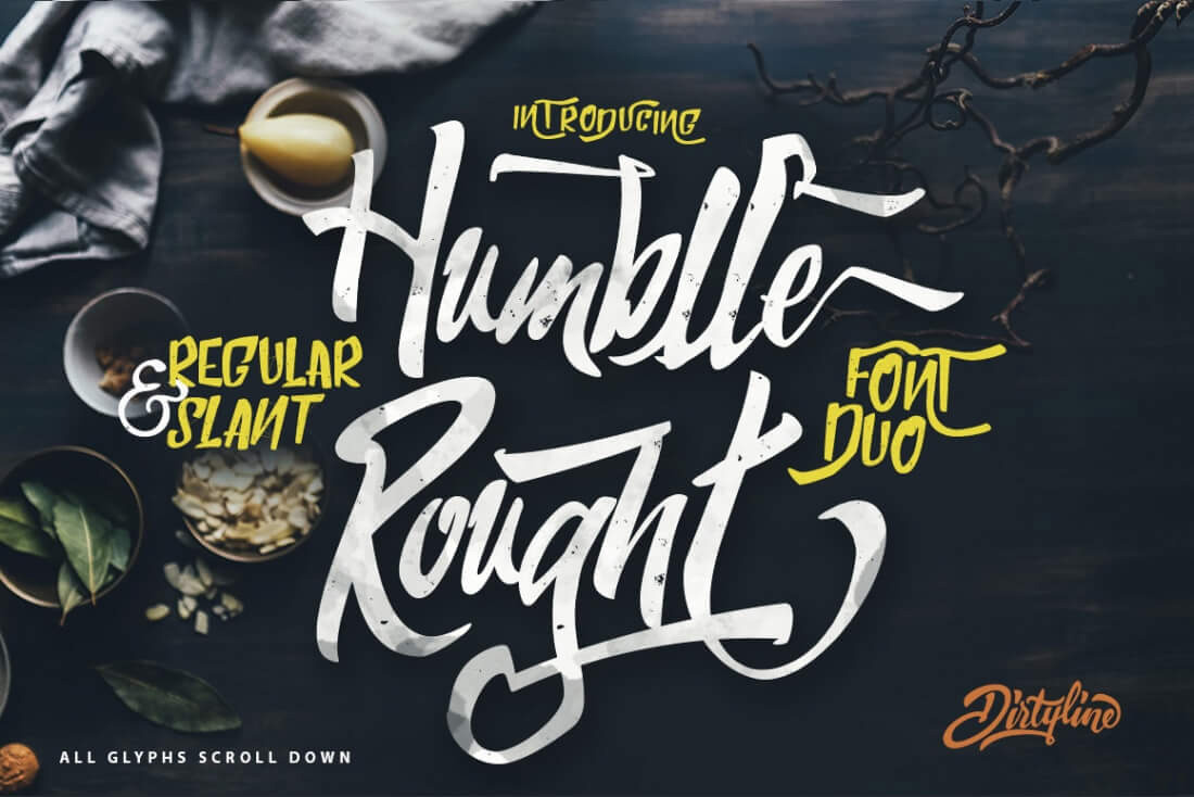 great-humblle-rought-regular-slant-style-font-2017