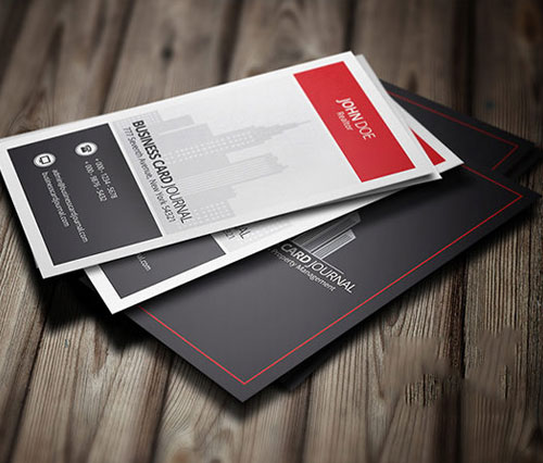 50 magnificent free business cards design templates modern stylish free real estate business card design reheart Gallery