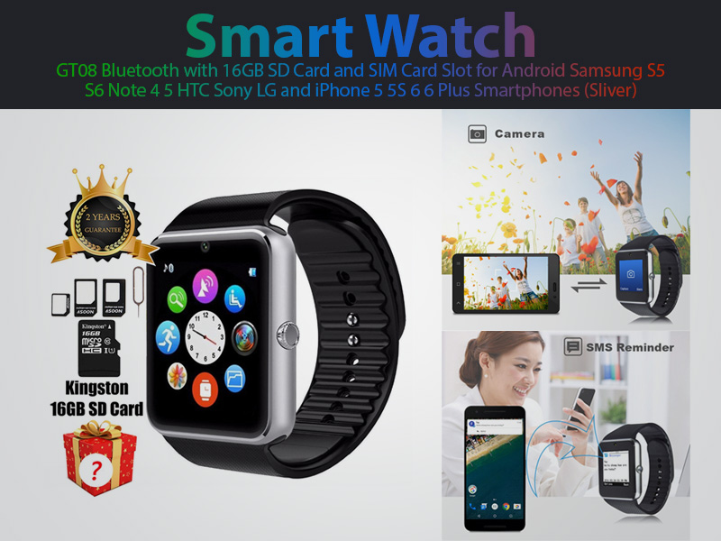 smart-watch-gt08-bluetooth-with-16gb-sd-card-and-sim-card-slot-for-android-samsung-s5-s6-note-4-5-htc-sony-lg-and-iphone-5-5s-6-6-plus-smartphones-sliver