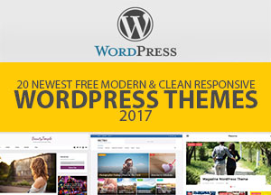 20 Newest Free Modern & Clean Responsive WordPress Themes 2017