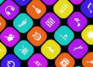 50+ Free Shiny Music & Music Instruments Icons