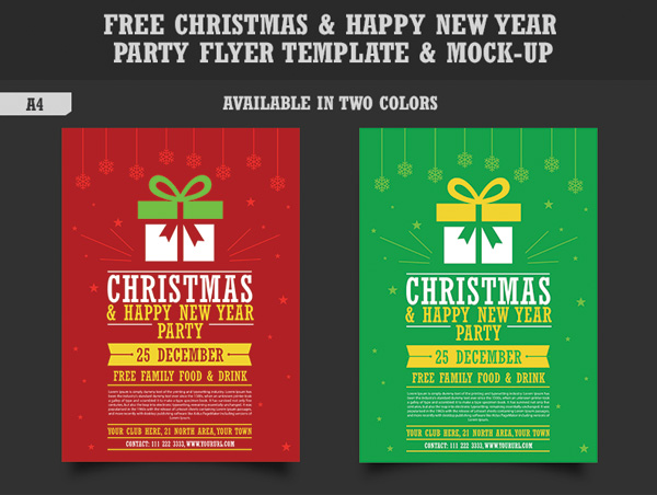 15 Newest Free Christmas Flyer Templates For Christmas Party