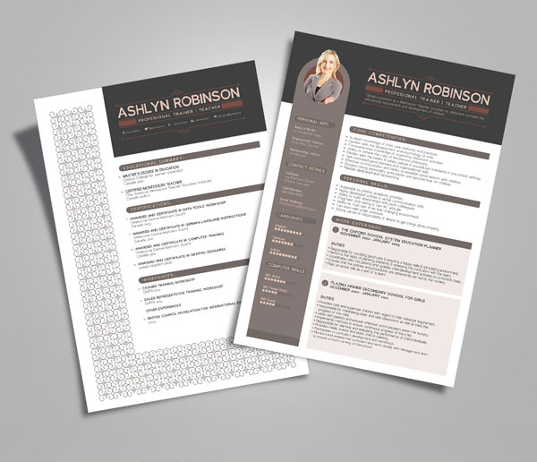 Newest Free  Premium Resume Templates For Graphic  Web Designers