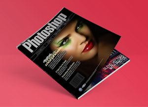 Free Flat Magazine Mock-up PSD