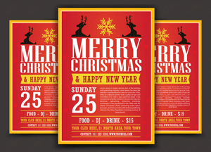 Free Modern Christmas Flyer Template Vector Ai File