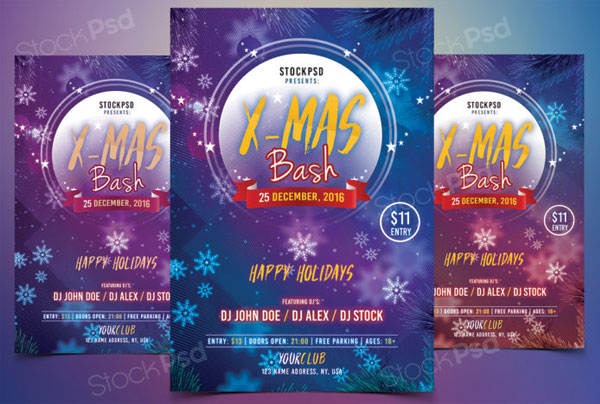 free-x-mas-bash-flyer-template