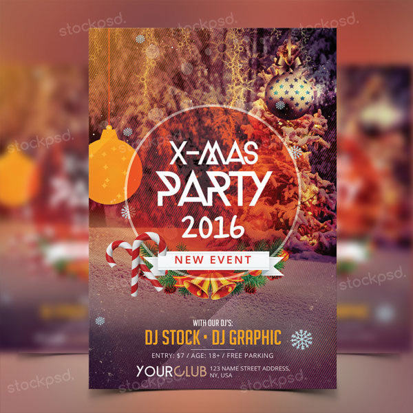 free-x-mas-party-flyer-template-design