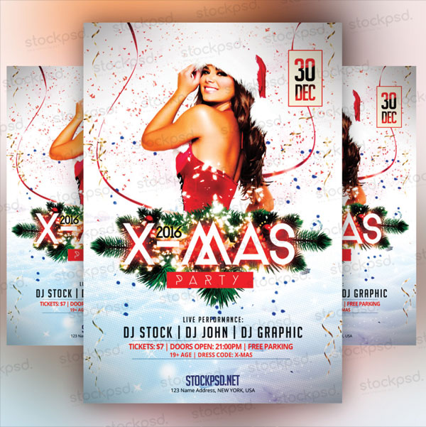 free-x-mas-party-flyer-template