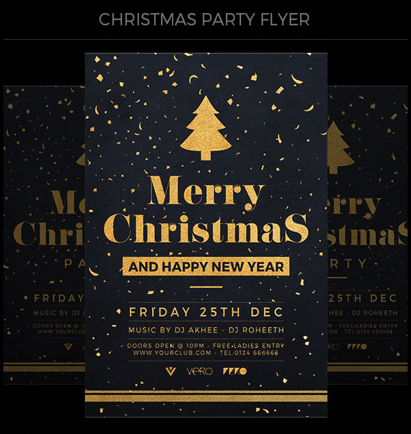 golden-christmas-flyer-template