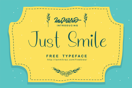 just-smile-free-typeface