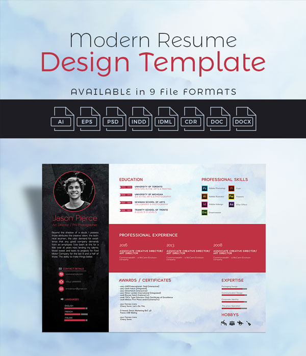 10  newest free  u0026 premium resume templates for graphic