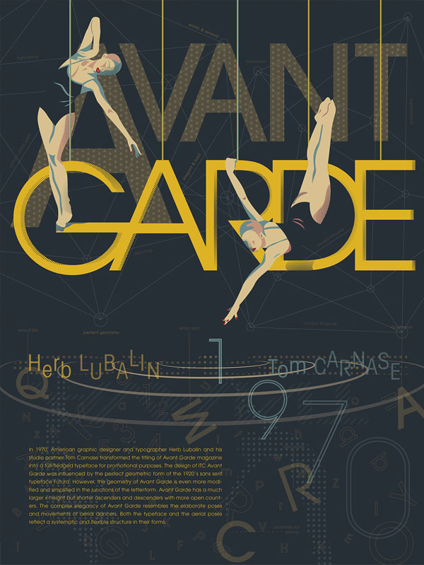 Avant-Garde-Typeface-Creative-Poster-For-Inspiration