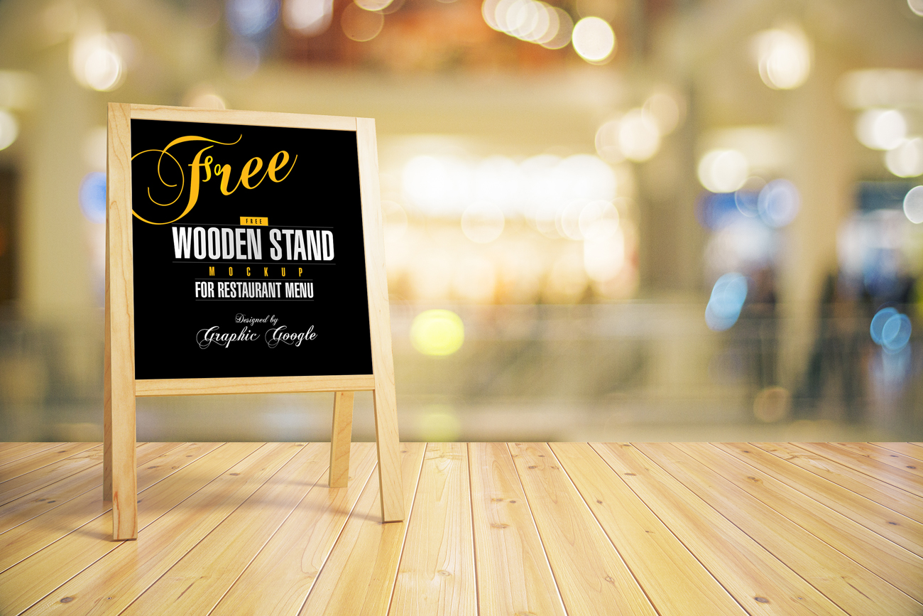 Free-Wooden-Stand-MockUp-For-Restaurant-Menu