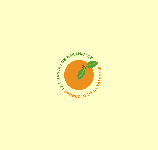 LA-GRANJA-NARANJITOS-Orange-Manufacturer-Creative-Logo-Design