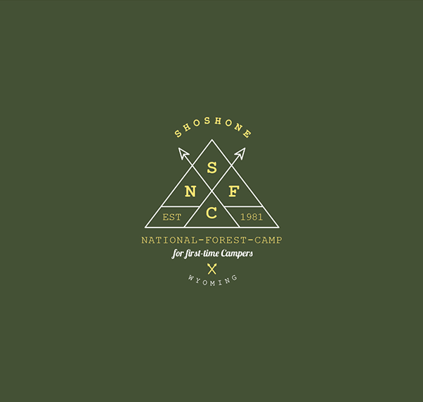 Shoshone-National-Forest-Camp-Creative-Logo-Design